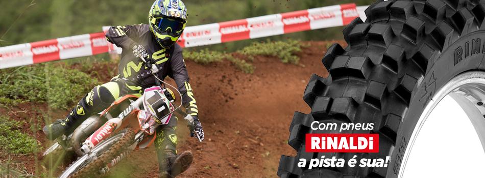 Com pneus Rinaldi, a pista é sua!